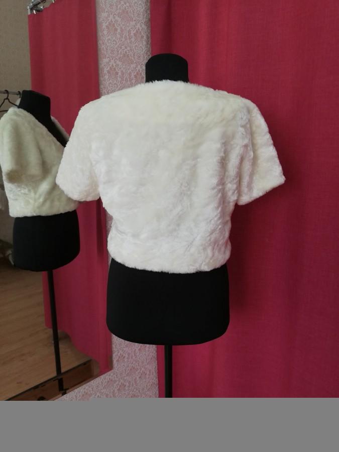 Свадебная шубка-болеро короткая