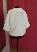 Свадебная шубка утепленная с коротким рукавом