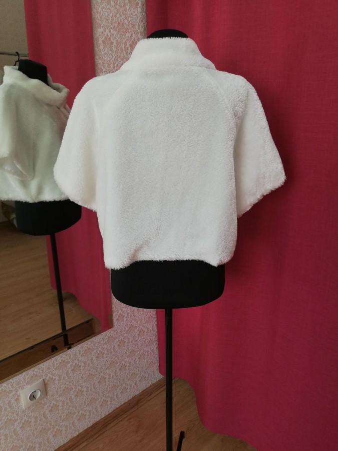 Свадебная шубка легкая с коротким рукавом